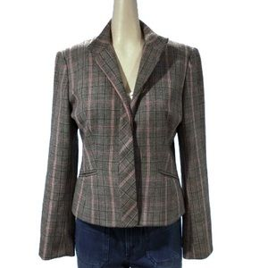 Vintage Gray and Pink Power Blazer